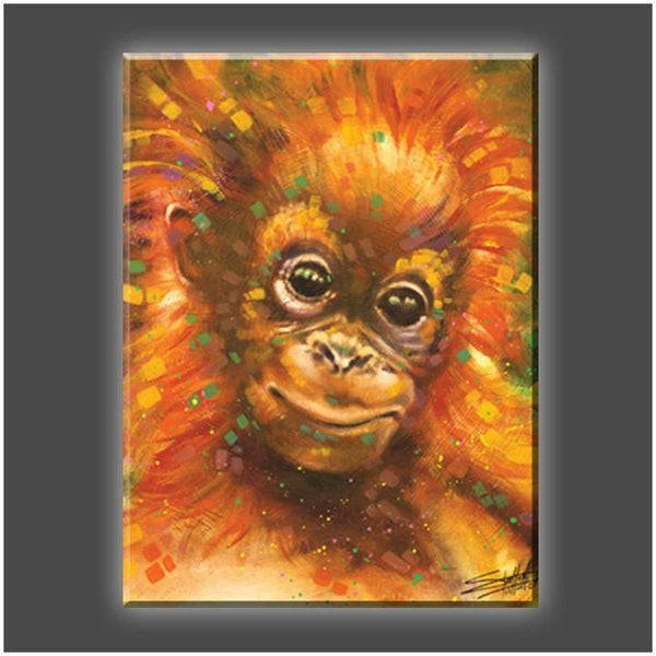 """Baby Orangutan"" Stretched Canvas Print (Various Sizes)"