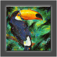 """Toucan"" Stretched Canvas Print (Various Sizes)"