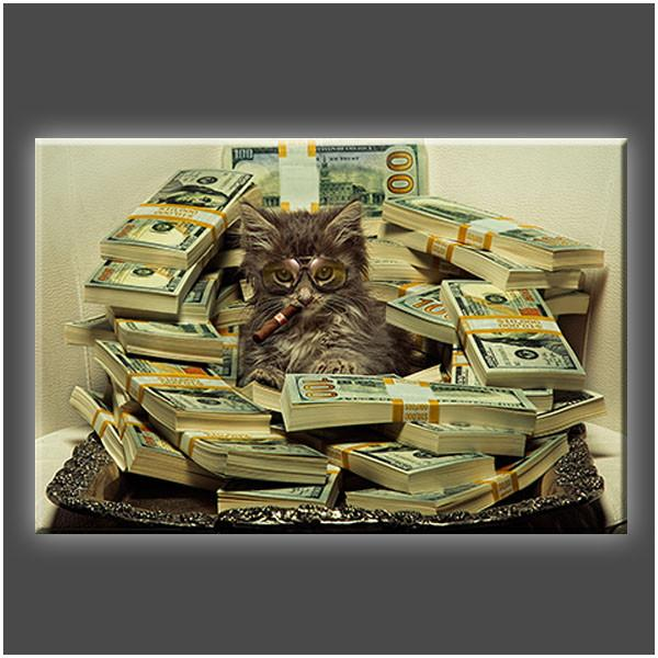 """Money & Pussy"" Stretched Canvas Print (Various Sizes)"