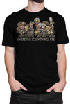 """Where the Scary Things Are"" T-shirt BCA16"