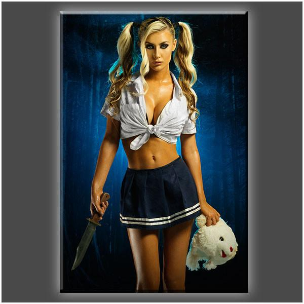 """School Girl Killer"" Stretched Canvas Print (Various Sizes)"