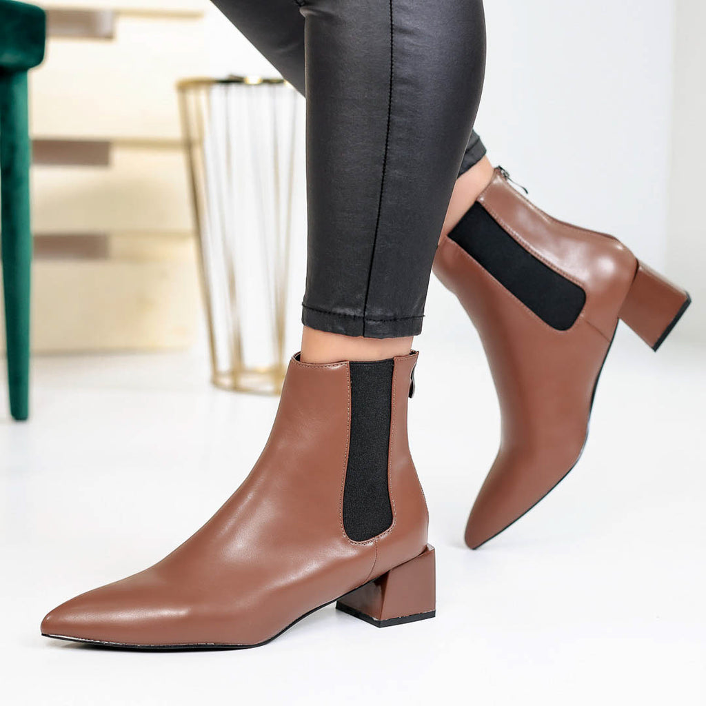 Botine dama Betina - Brown