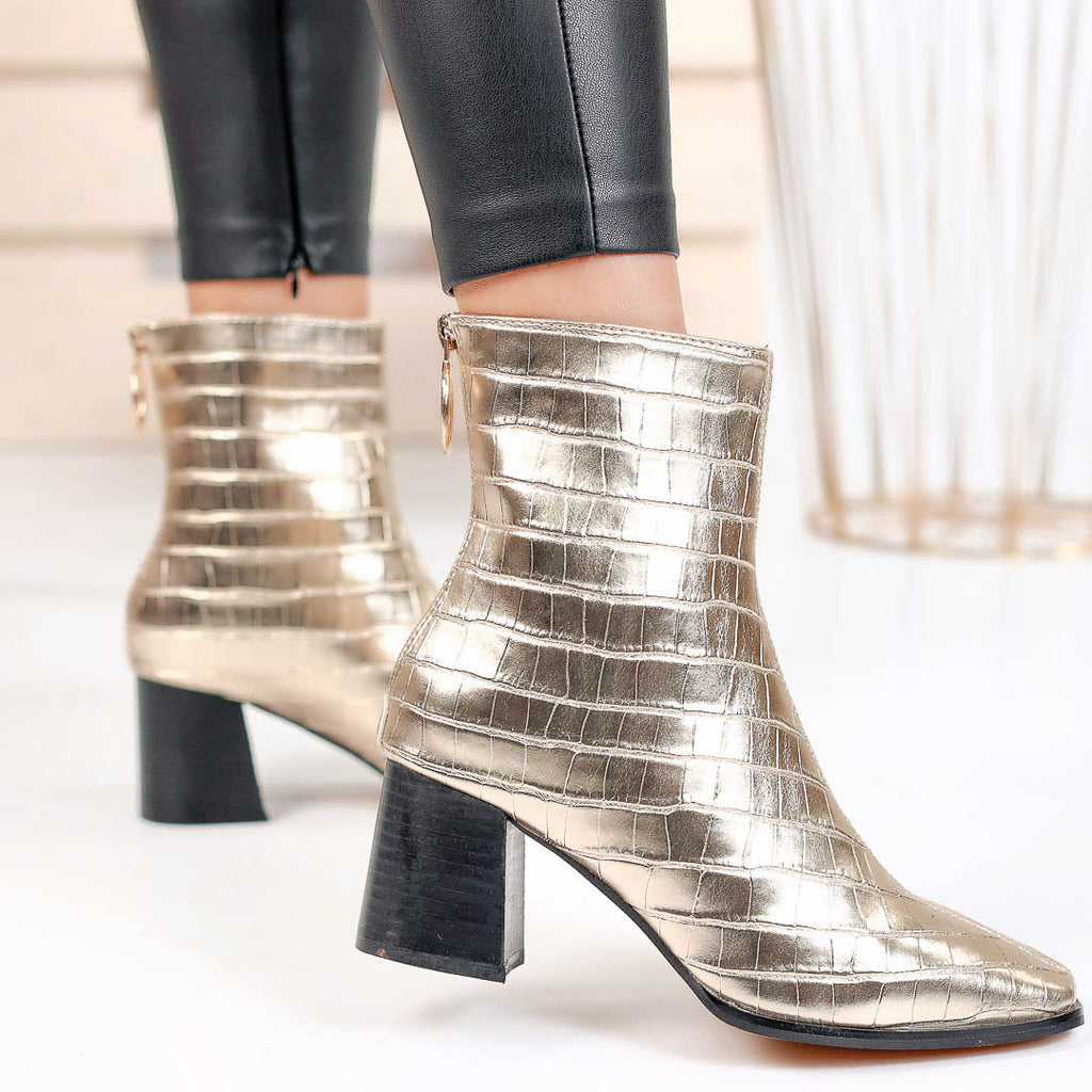 Botine dama Glory - Gold
