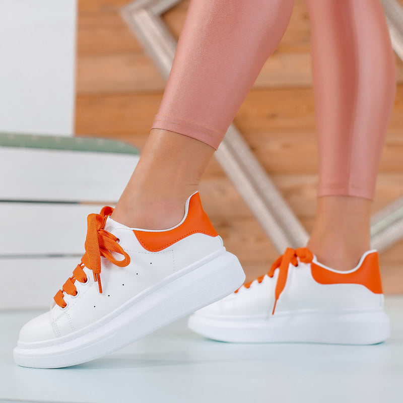 Pantofi sport Ferry - White/Orange