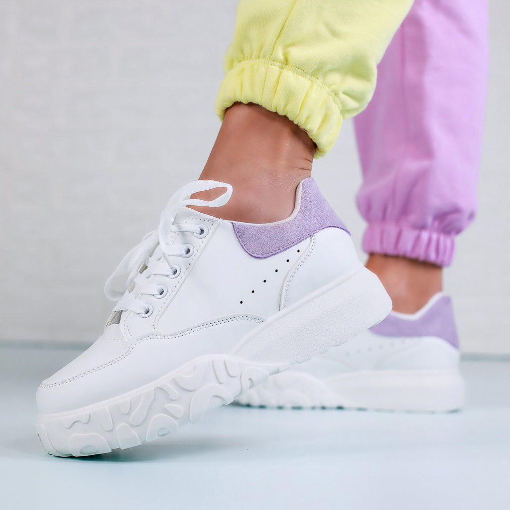 Pantofi sport Bliss - White/Purple