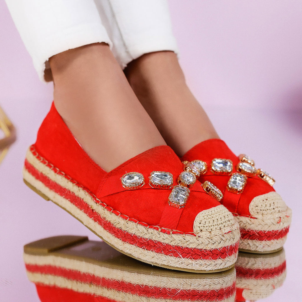 Espadrile dama Karlina - Red