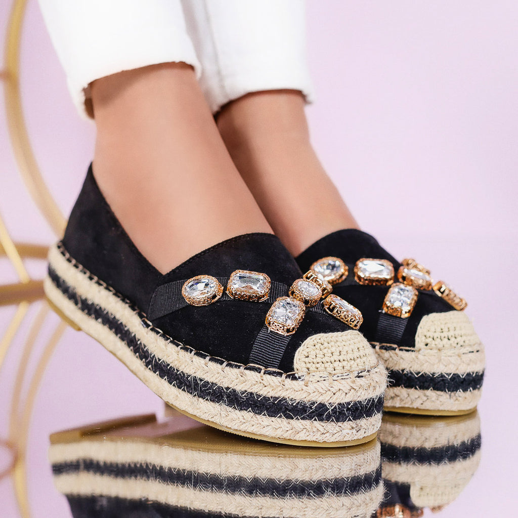 Espadrile dama Karlina - Black