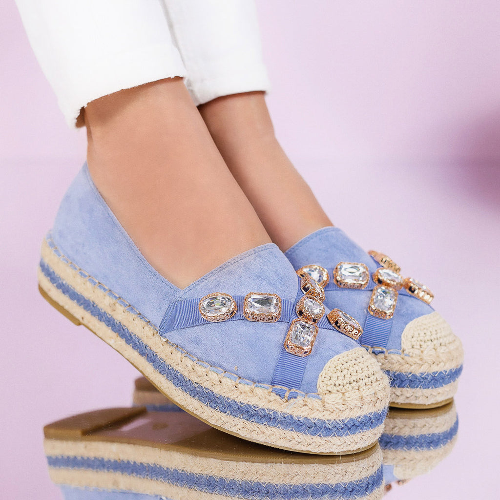 Espadrile dama Karlina - Blue