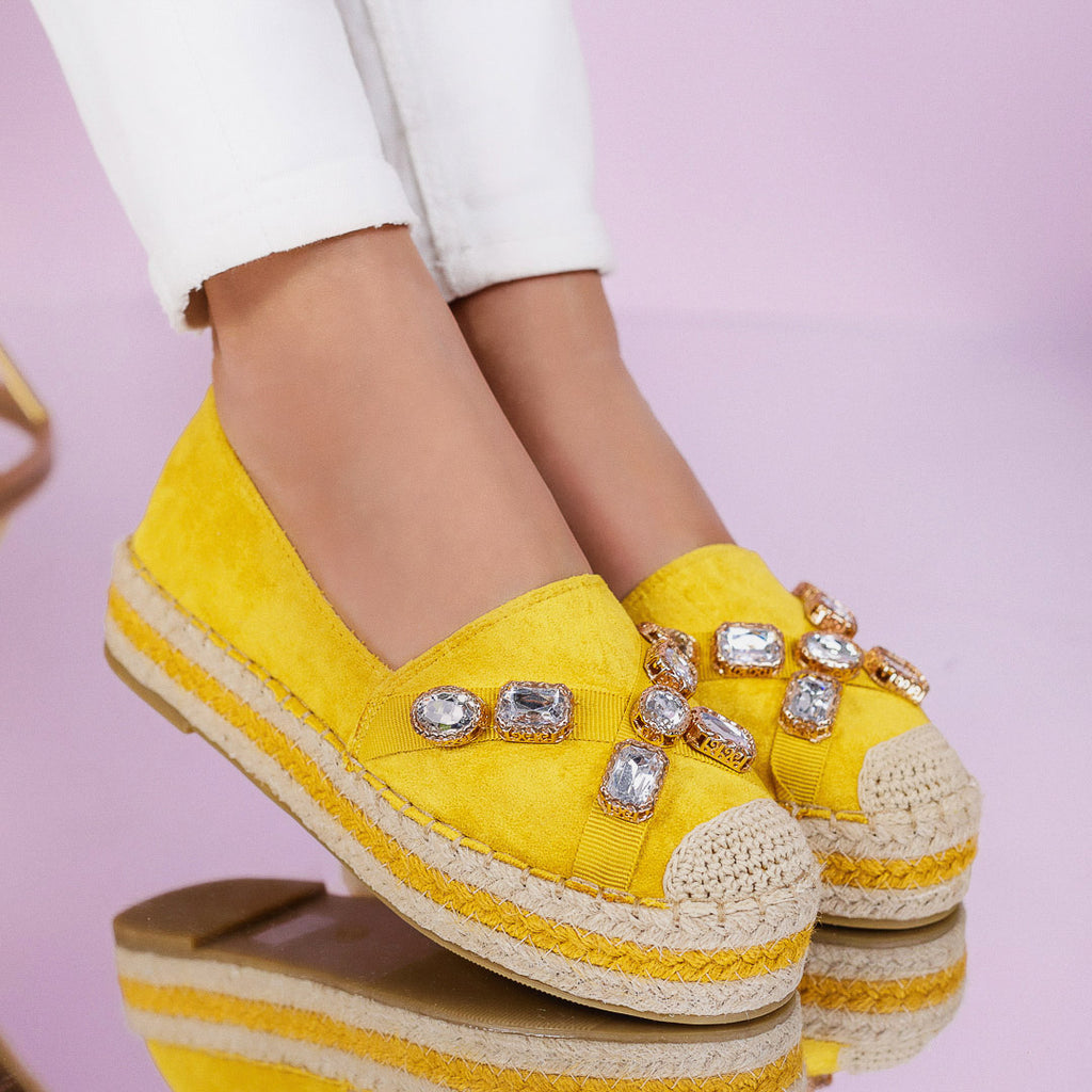 Espadrile dama Karlina - Yellow