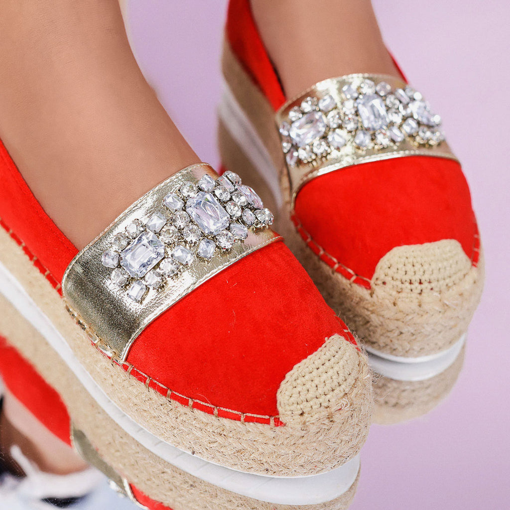 Espadrile dama Monika - Red