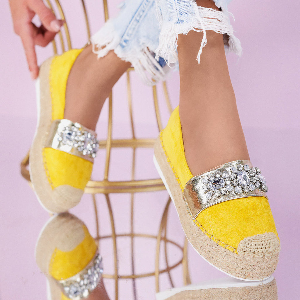 Espadrile dama Monika - Yellow