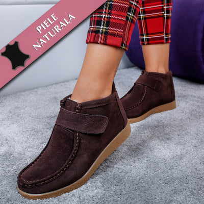 Ghete dama Mirabella - Dark Brown
