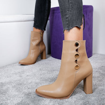 Botine dama Seniora - Brown