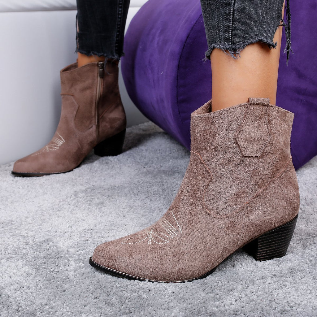 Botine dama Raluca - Brown