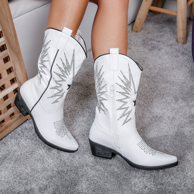 Botine dama Juliana - White