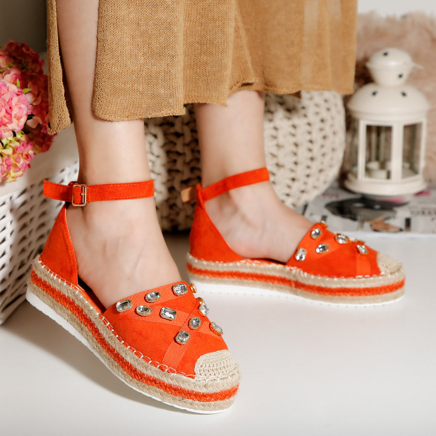 Espadrile dama Palmina - Orange