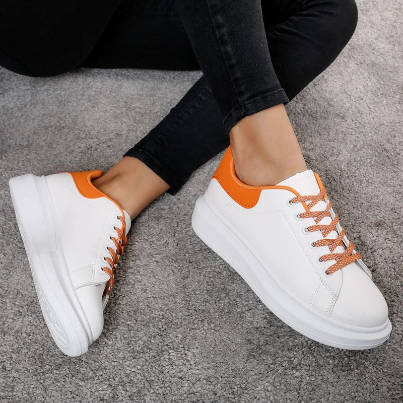Pantofi sport Evona - White/Orange