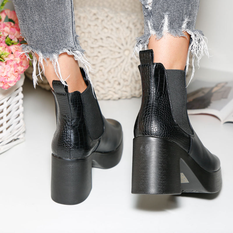 Botine dama Saraya - All Black