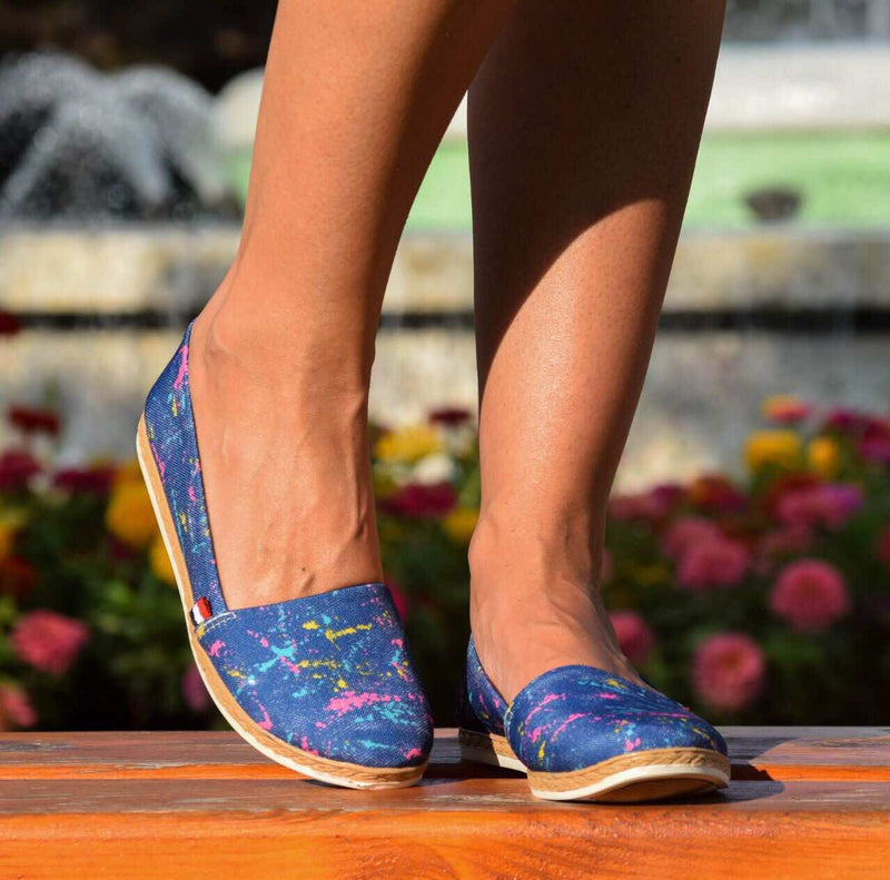 Espadrile dama Barrows albastre