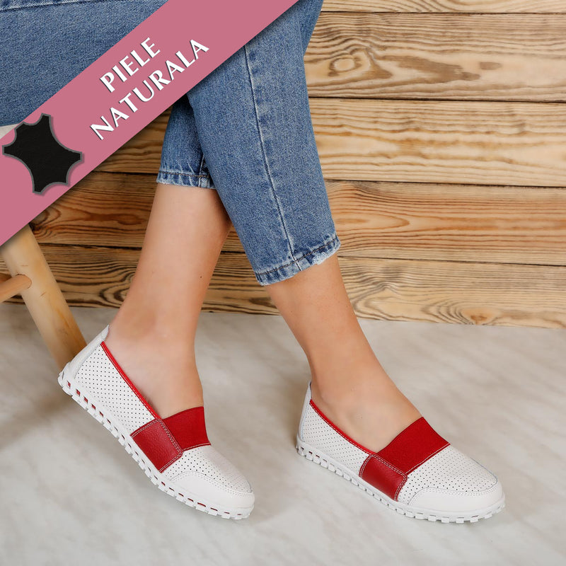 Pantofi dama Netty - White Red