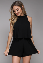 DO and BE BACK KEYHOLE ROMPER-BLACK COLOR