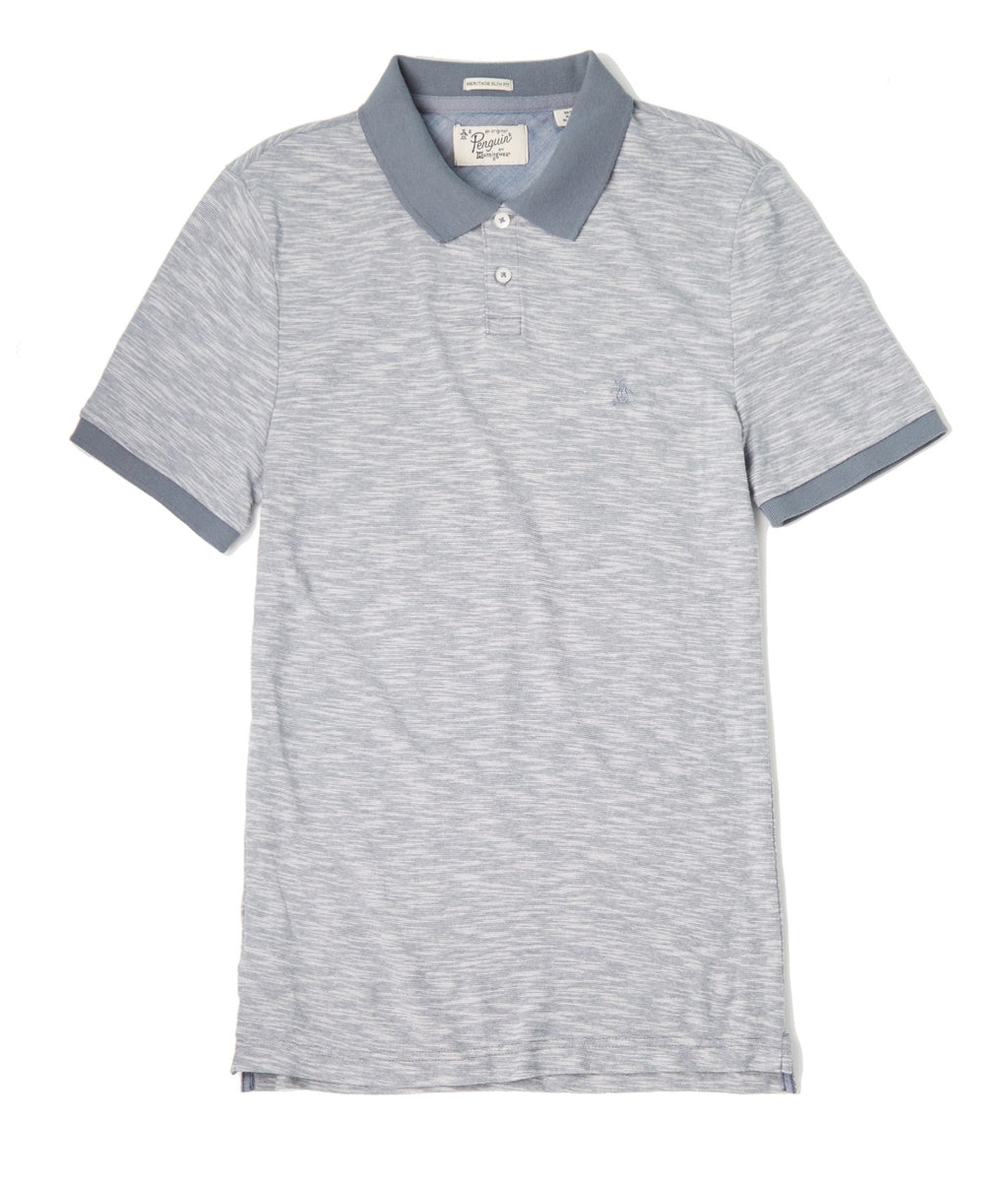 Original Penguin Basic Melange SS Polo - FLINTSTONE