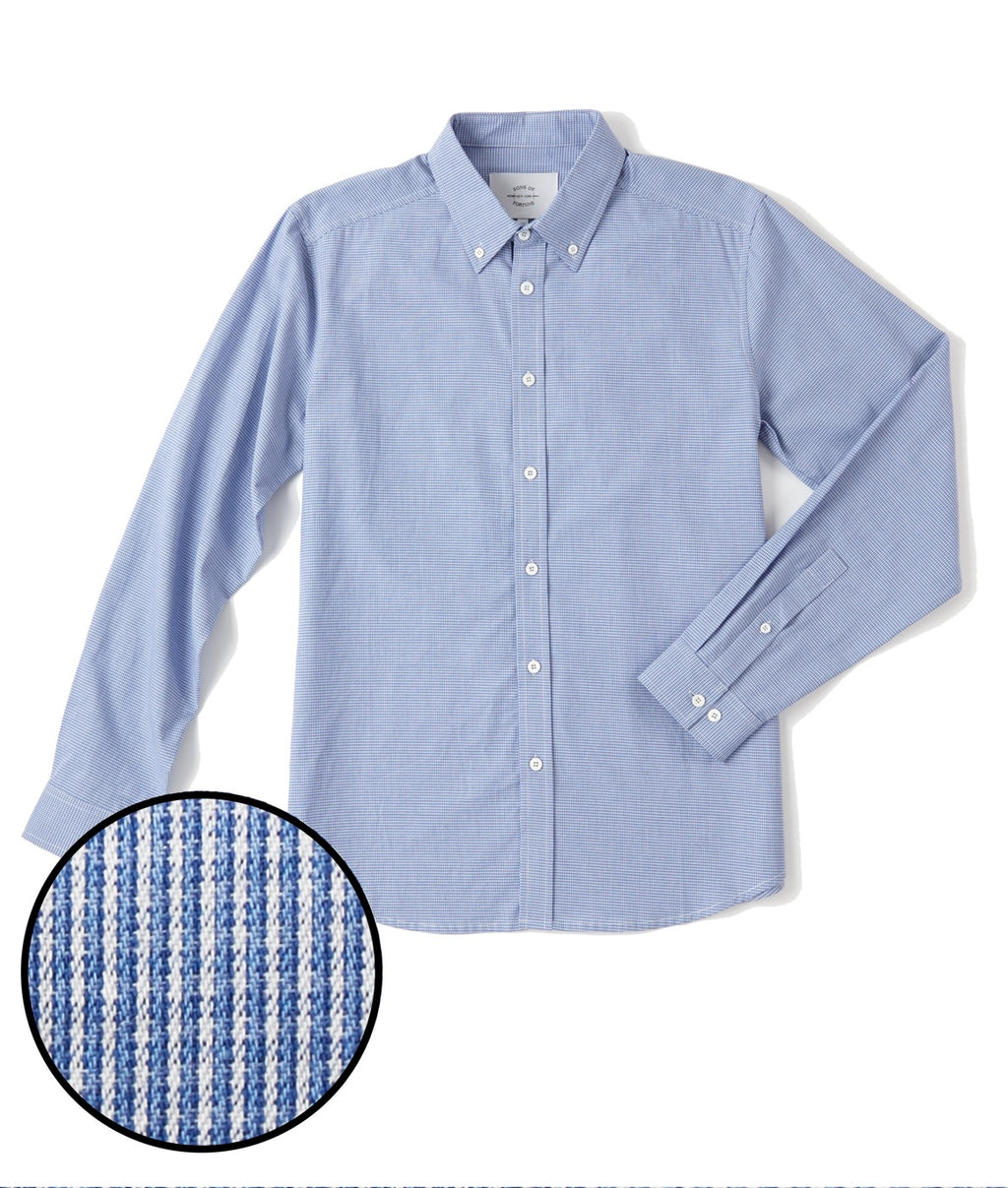 Sons of Fortune Bennett Blues LS Shirt - BLUE CHECK