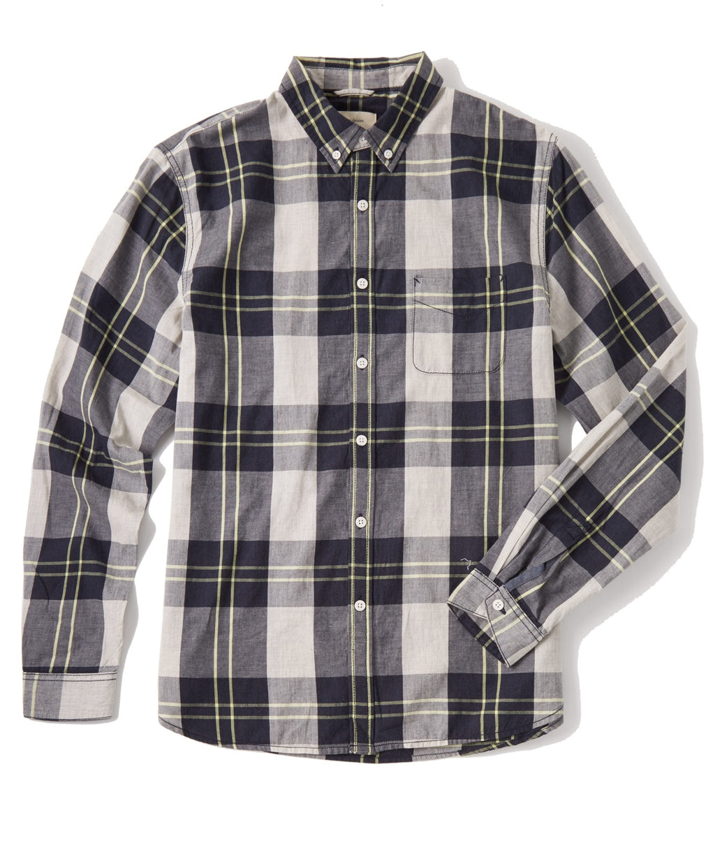 Life/After/Denim Beacon Wide Plaid LS Shirt - HEATHER NYPD