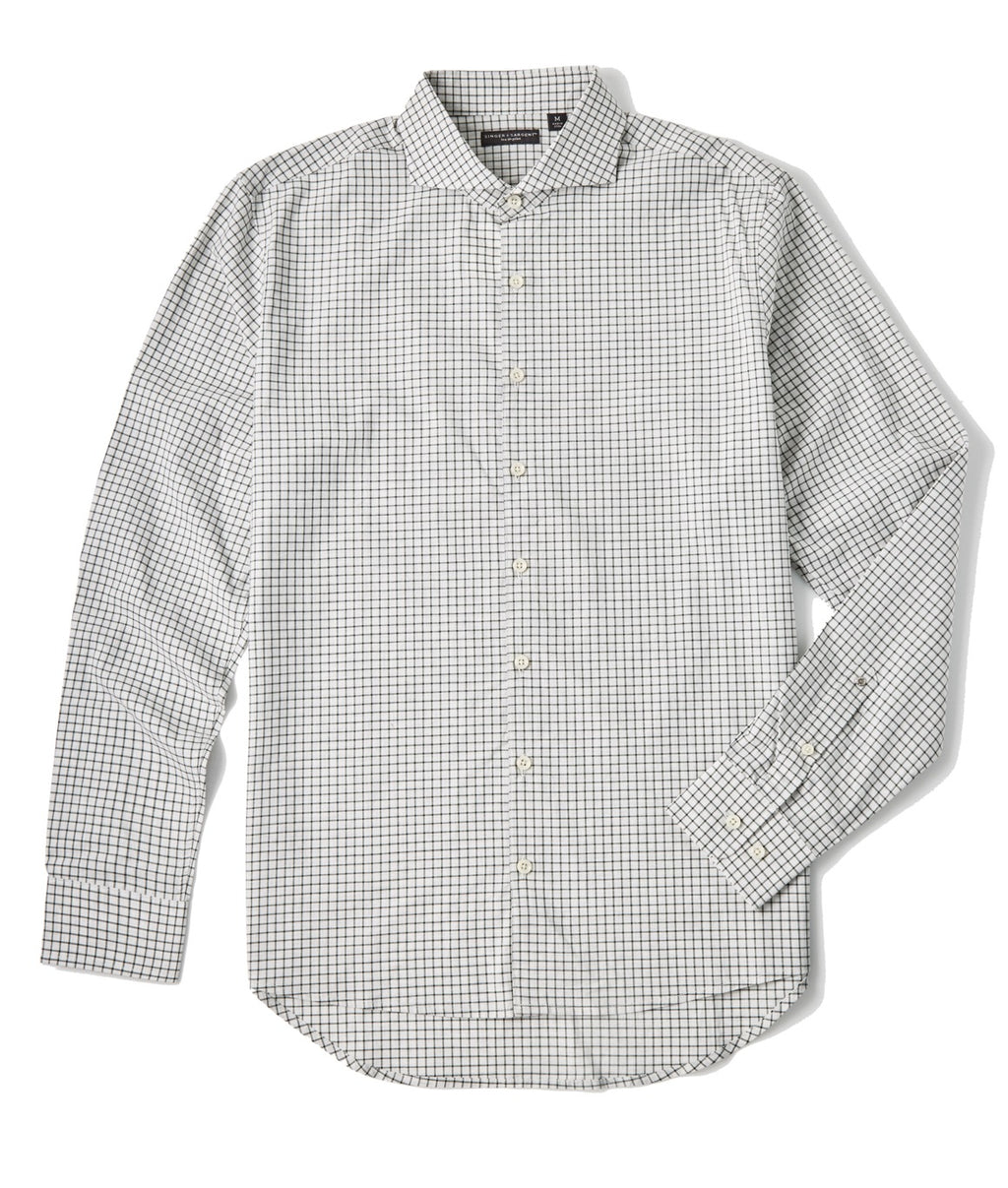 Singer + Sargent Small Check LS Shirt - GRAY HEATHER