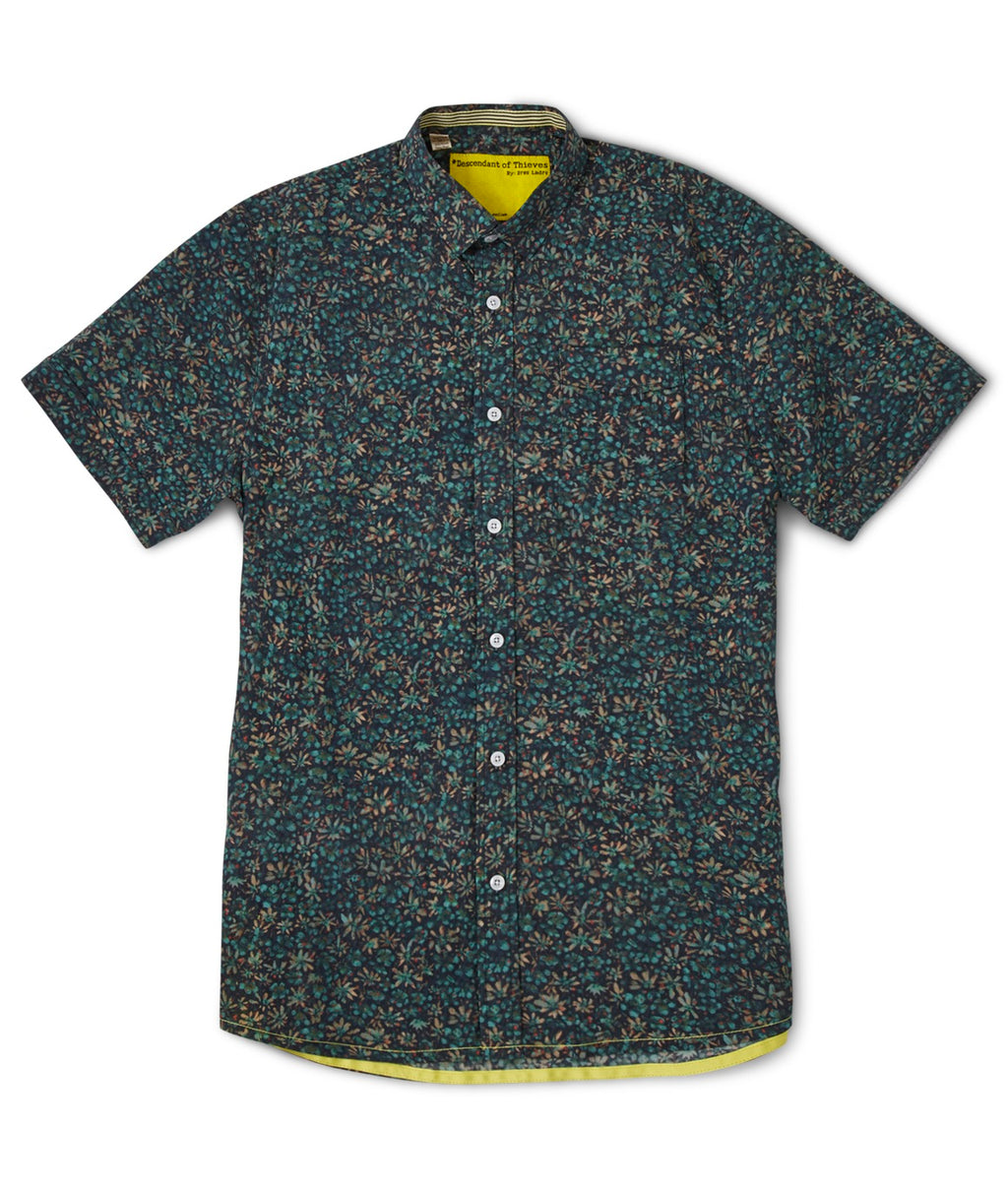 Descendant of Thieves Artists Mind Print SS Shirt - GREEN SHADES