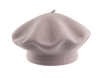 Grey Purple Beret 100% Wool Winter Hats Millinery