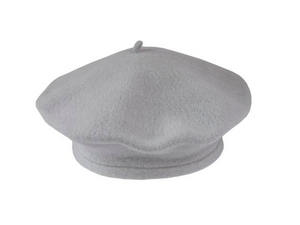 Grey Beret 100% Wool Winter Hats Millinery