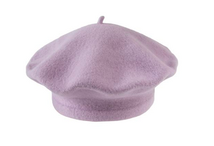 Light Purple Beret 100% Wool Winter Hats Millinery