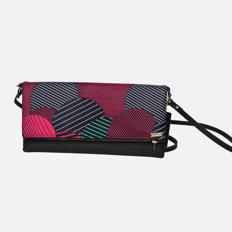 ANKARA-CLUTCH-BLACK-RED-STRIPE-PURSE