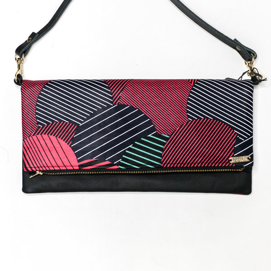 ANKARA-CLUTCH-BLACK-RED-STRIPE-cross-body