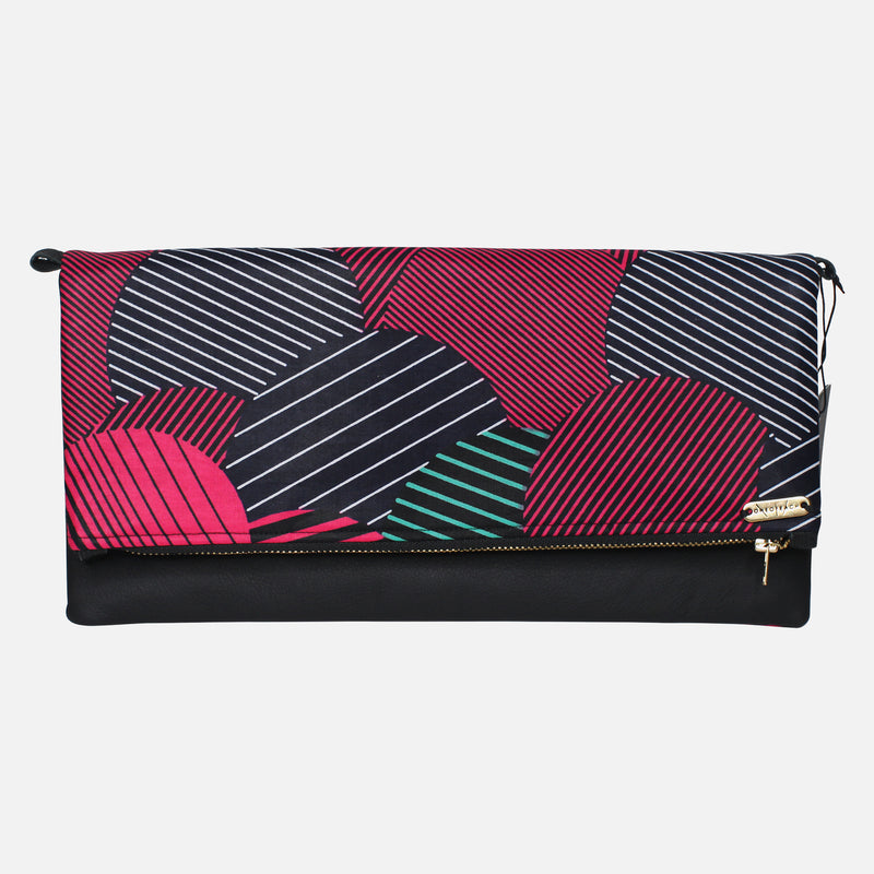 ANKARA-CLUTCH-BLACK-RED-STRIPE