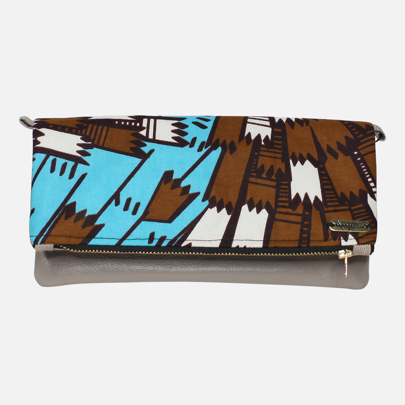 Ankara Clutch - Black White