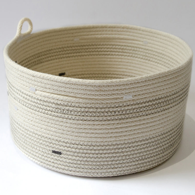 Coiled Cotton Bowl - Medium - Grey Stitch