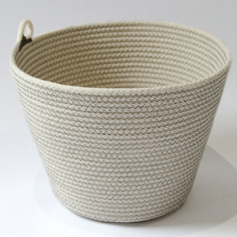 Coiled Cotton Bowl - Green Stripe