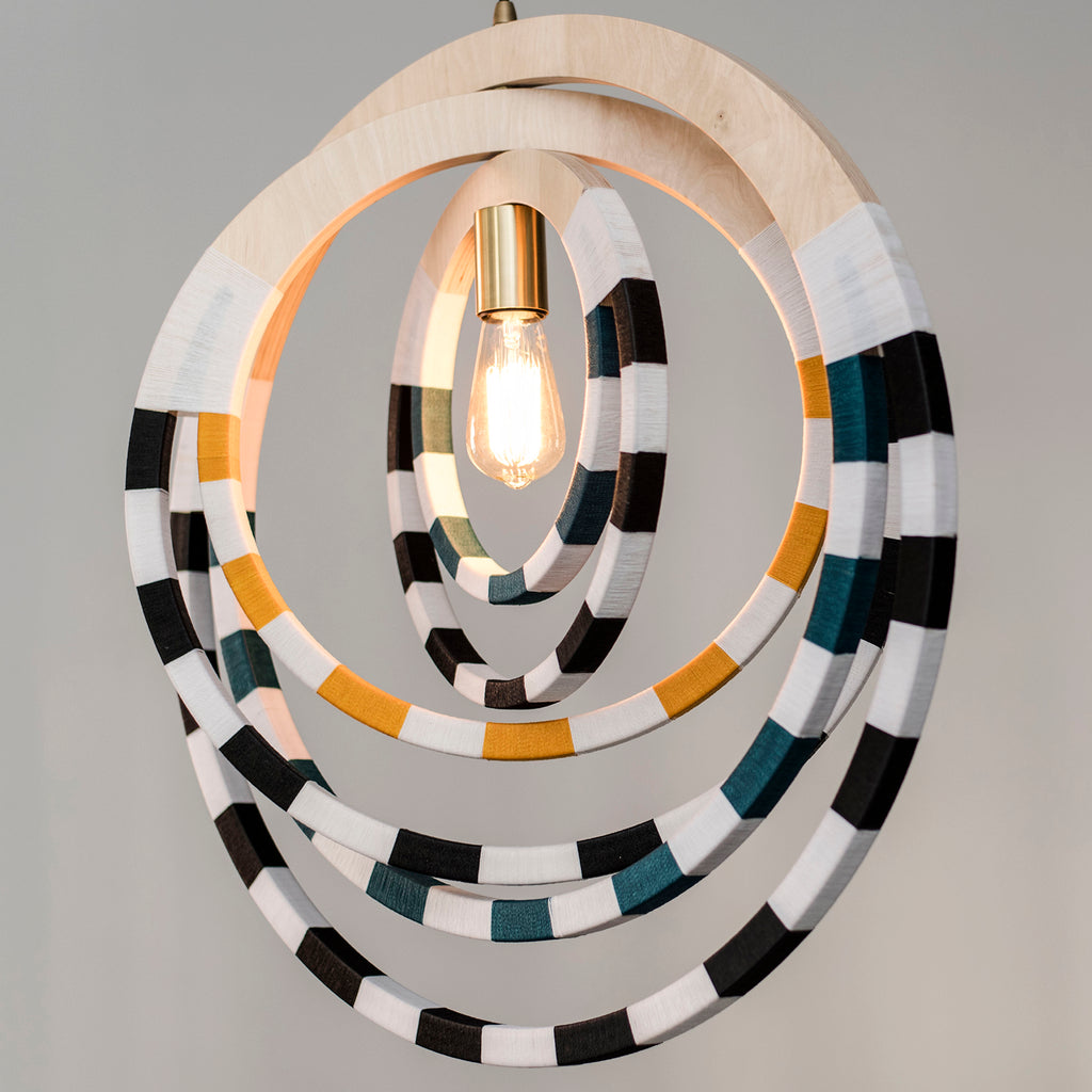 Ndebele Necklace Pendant Light - Teal