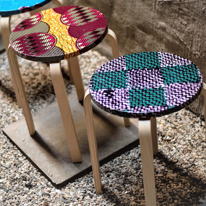 Lollipop Side Table Stool - Purple Teal