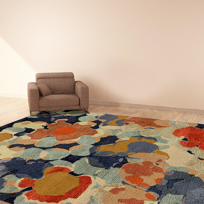 FLOWER-DOT-CARPET-6X9-WOOL-AND-SILK-AREA-RUG