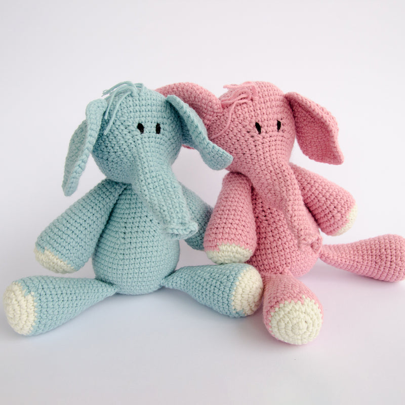 HAND-CROCHETED-STUFFED-TOY-NDLOVU-ELEPHANT-PINK-SOFT-TOYS