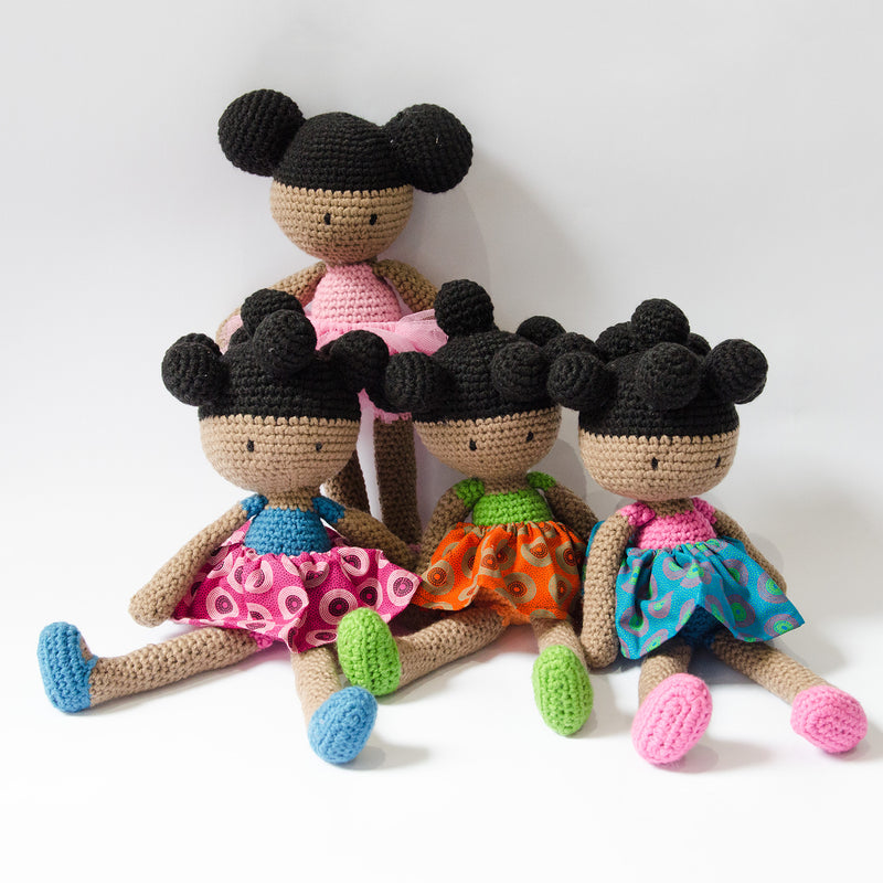 Hand-Crochet-Doll-Beautiful-Black-Doll