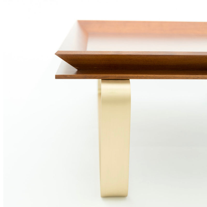 LE-TABLE-WALNUT-BRASS-CUSTOM-DESIGNER-TRAY