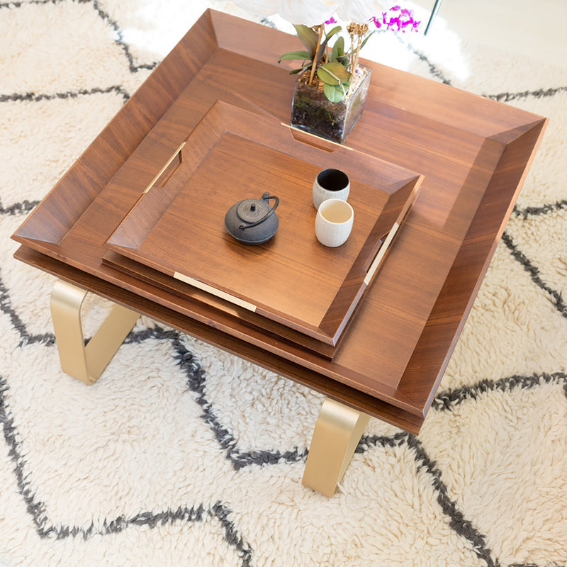 LE-TABLE-WALNUT-BRASS-LUXURY-SQUARE-WOODEN-TRAY