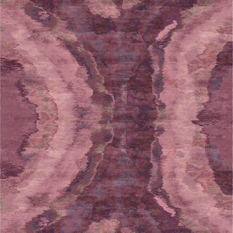 Water Purple Carpet - 6' x 9'