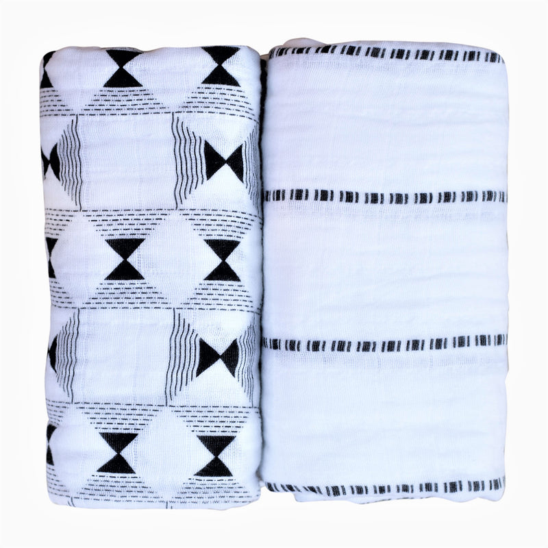 Gabi Ethiopian Throw Blanket - Navy