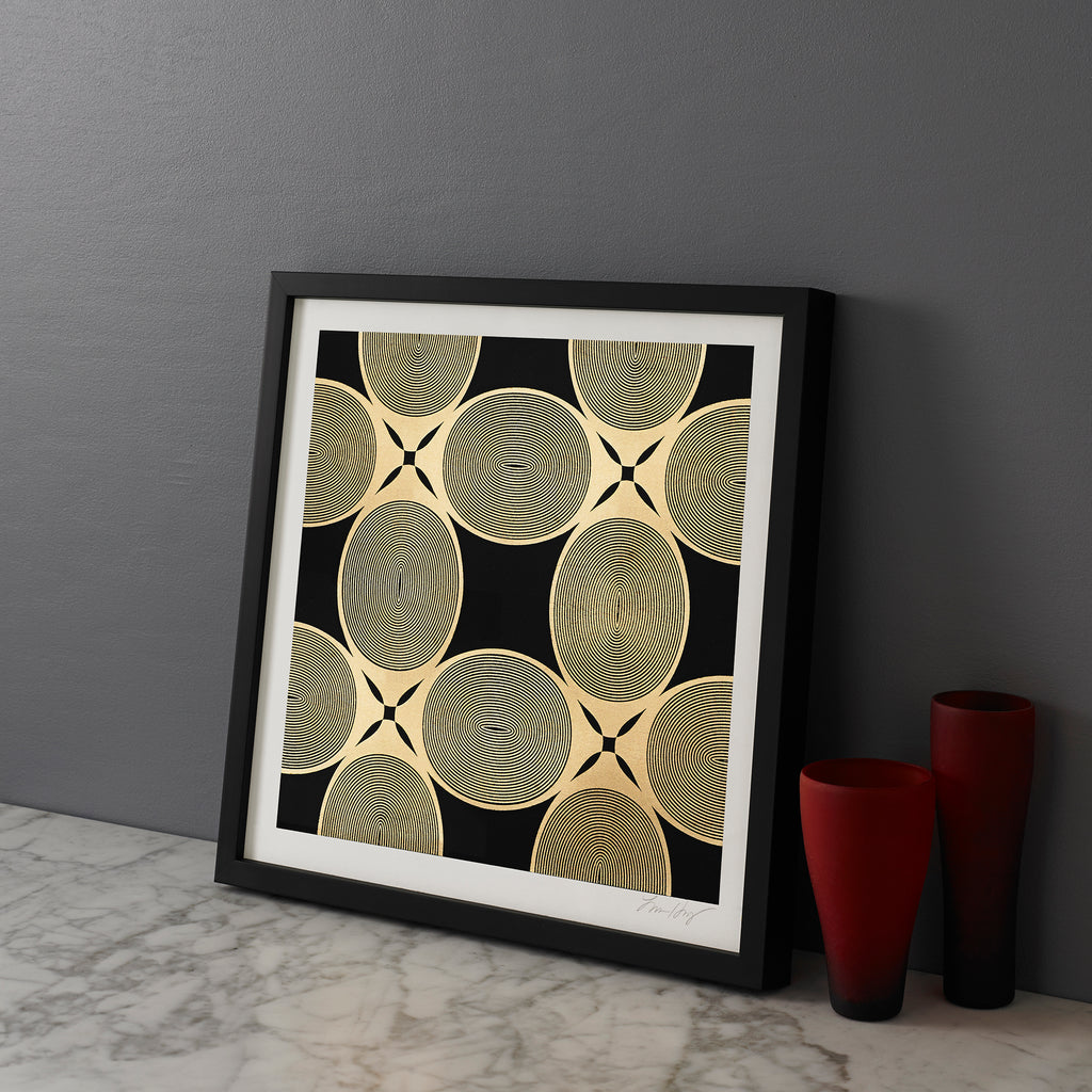 ROYAL-PALM-REPEAT-BLACK-GOLD-PRINT-FRAMED-CONTEMPORARY-AFRICAN