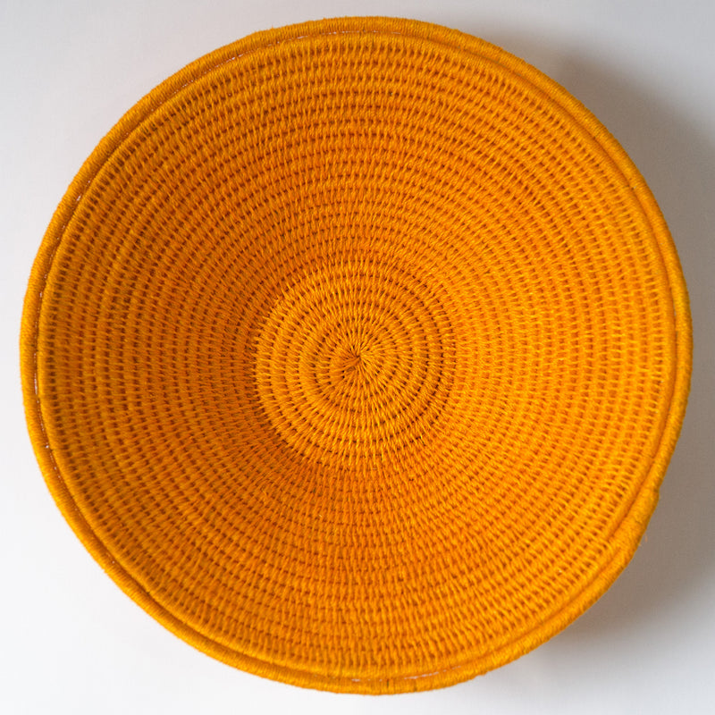 Coiled Cotton Bowl - Grey Stripe